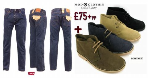MENS TWO PIECE COMBO LEVIS & BOOTS